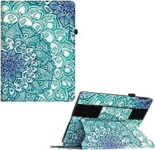 Fintie iPad 9.7 2018/2017, iPad Air 2, iPad Air Case - [Multi-Angle Viewing] Cover w/Hand Grip, Auto Sleep/Wake, Car Headrest Mount Function for Apple iPad 6th Gen / 5th Gen, Emerald Illusions