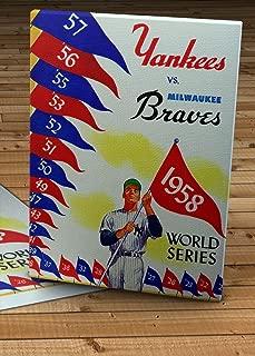1958 Vintage New York Yankees - Milwaukee Braves World Series Program - Canvas Gallery Wrap - 12 x 16