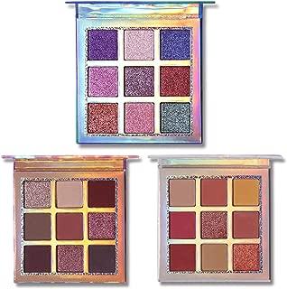 UCANBE Professional Eye shadow Palette Pigmented Matte Shimmer 9 Colors Eyeshadow Palette Blendable Waterproof Long Lasting Eye Shadow Makeup (Set of 3)