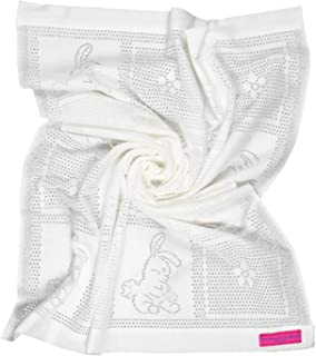 Southampton Home Lace Weave Bunny Baby Blanket (White)