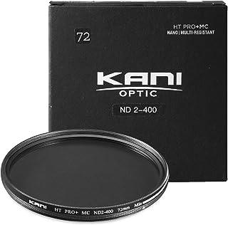 【KANI】カメラ フィルター NDフィルター 可変式 バリアブル ND2-400 (72mm)