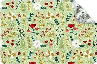 Doormat Custom Indoor Welcome Door Mat, Christmas Floral Print Home Decorative Entry Rug Garden/Kitchen/Bedroom Mat Non-Sl...