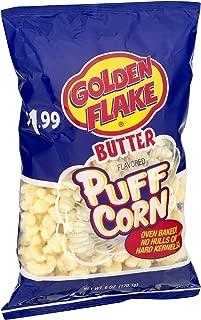 Golden Flake Puff Corn Butter, 7 oz Bags (Pack of 4)