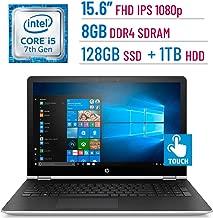 2018 HP 15.6-inch Touchscreen (1920x1080) IPS 2-in-1 Convertible Laptop PC, Intel Core i5-7200U, 8GB DDR4 SDRAM, 128GB SSD + 1TB HDD, Bluetooth, AMD Radeon 530, HDMI, B&O Play, Stylus, Windows 10