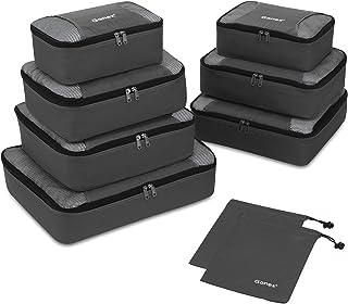 Gonex Packing Cubes 9 Set Travel Luggage Organizer with Laundry bag Deep gray