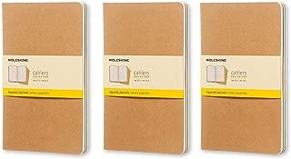 Moleskine Cahier Journal (Set of 3), Large, Squared, Kraft, Soft Cover (5