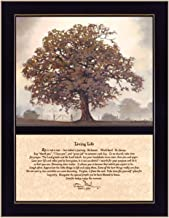 Craft Room COW128F-712 Living Life, Two Part Hardwood Framed Inspirational Textured Print