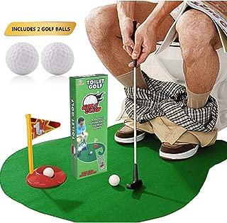 Safak Gag Gifts Toilet Golf - Potty Putter Toilet Game - Funny Gag Gifts for Men, Kids, Women, Adults