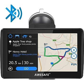AWESAFE Navegador GPS con Visera para Coches de 7 Pulgadas con 22 ...