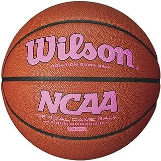 Wilson NCAA Intermediate Size Game Basketball with Pink Logo, Brown