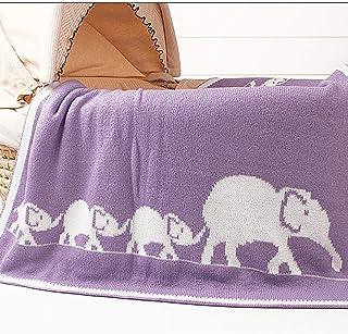 Manta de dibujos animados elefante bebé impreso de punto de empañar infante recién nacido Wrap Mantas