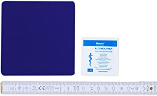 Flickly Aanhangwagen voor dekzeilen reparatiepleister | verkrijgbaar in vele kleuren | 10cm x 10cm | Zelfklevend (ultramar...