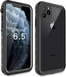 iPhone 11 Pro Max Case, Waterproof Full Body Rugged with Built-in Screen Protector Heavy Duty Clear Case Shockproof Cover Outdoor Dirtproof Underwater Case for iPhone 11 Pro Max (Black, 6.5 Inch)
