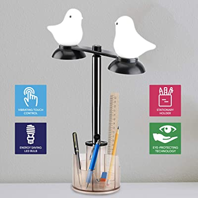 GZLEERLE Smart Touch Control Table Lamp, Eye Ca...