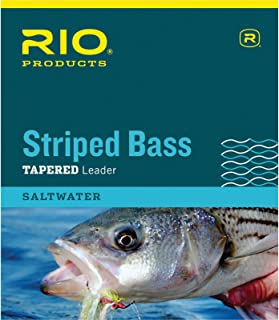 RIO Fly Fishing Striped Bass 7' 20Lb 10kg Fishing Leaders, Clear