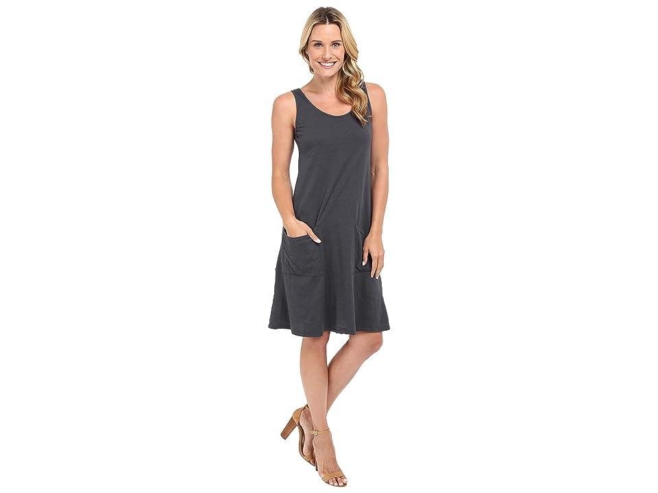 Fresh Produce Drape Dress (Charcoal Grey) Women
