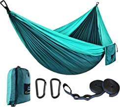 CAMDEA Single Camping Hammock with Tree Straps, Camp Lightweight Portable Hammock, Hammock Tent Swing for Sleeping, Backpa...