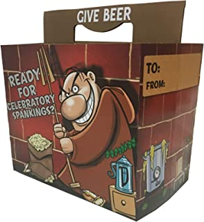 Celebratory Spankings Beer Six-Pack Holder (Set of 3) - Greeting Card That Holds Beer! - Great for Beer or Soda - Celebrate Birthdays