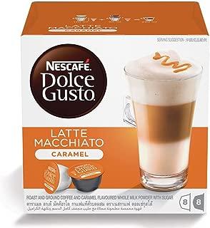 Nescafe Dolce Gusto Caramel Latte Macchiato Coffee Capsules (16 Capsules, 8 Cups)