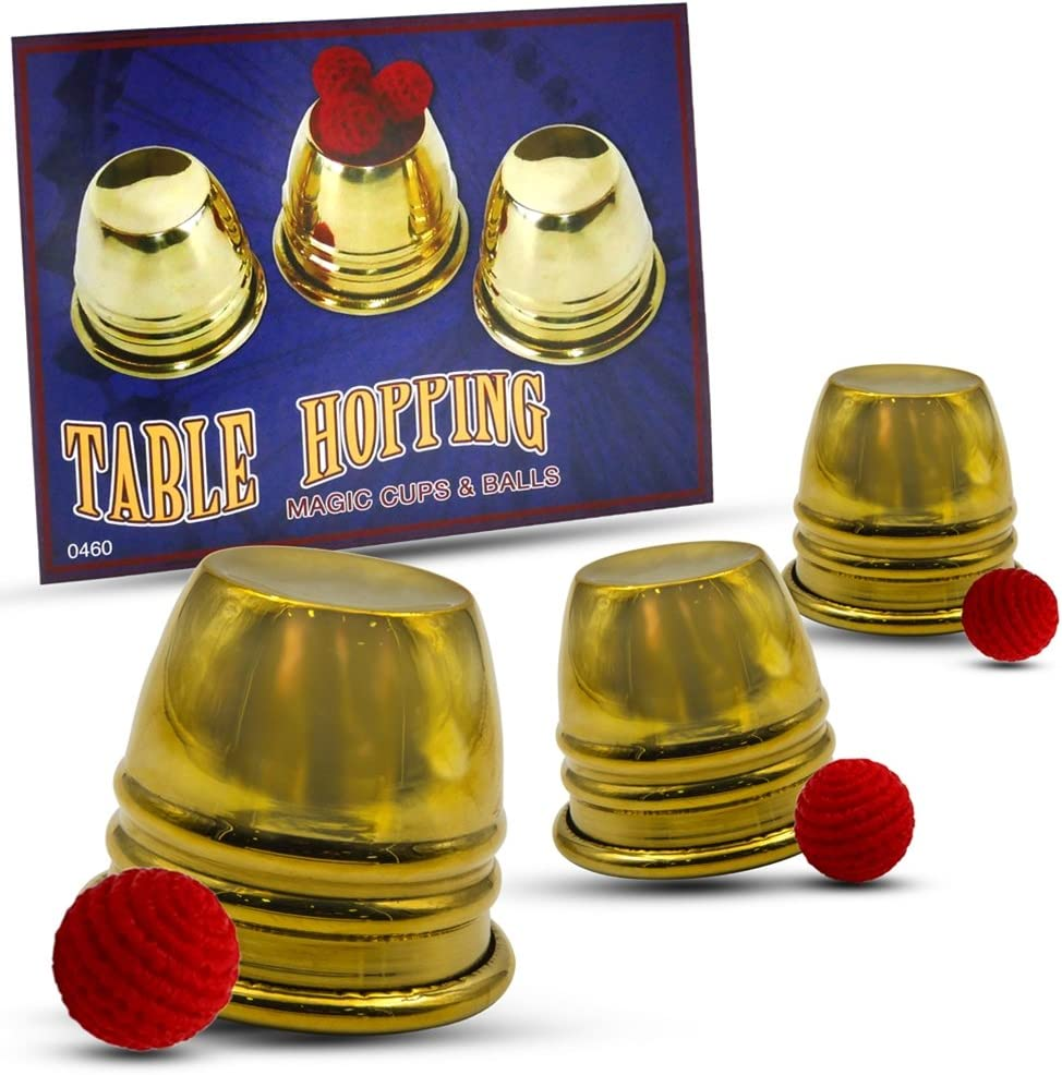 Magic Makers Gold Table Hopping Mini and Cups - Over item El Paso Mall handling Includes Balls