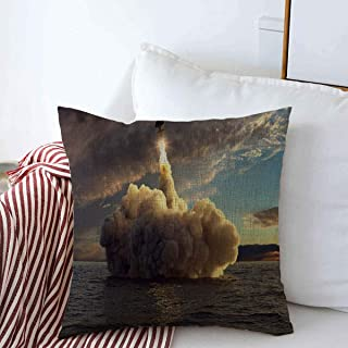 Staropho Pillow Covers Farmhouse Cg Bomb Cruise Missile Launched Water Sunset from Power at Science Nuclear Technology Rocket Launch Decorative Throw Pillow Covers 20