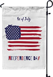 Shorping Yard Garden Flag, 12x18Inch for Holiday and Seasonal Double-Sided Printing Yards Flags Happy Independence Day 4th of July United States of America Vector Water