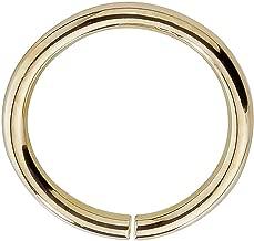 14k Yellow Gold Nose Hoop Cartilage Earring - Petite Seamless Earrings For Sensitive Ears Nickel Free