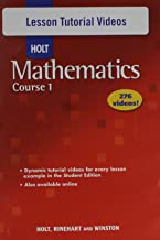 Holt Mathematics: Lesson Tutorial Videos Course 1 (Holt Mathematics Course 1)