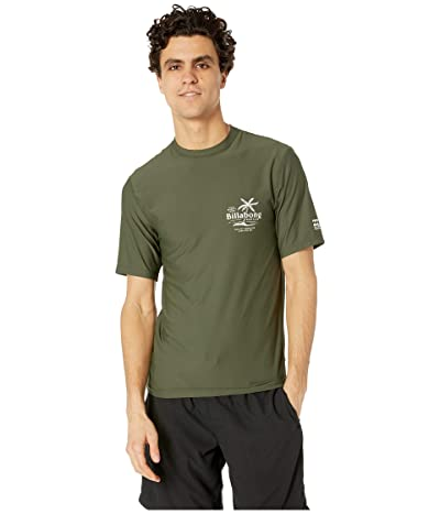 Billabong Surf Club Loose Fit Short Sleeve (Dark Olive) Men