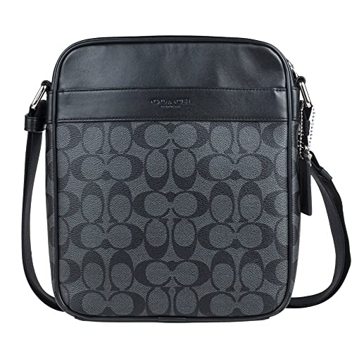 f491694f367d Coach Mens Flight Bag in Signature PVC 54788 in Charcoal Black