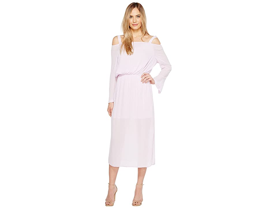 Calvin Klein Jeans Off the Shoulder Midi Dress (Opal Pink) Women