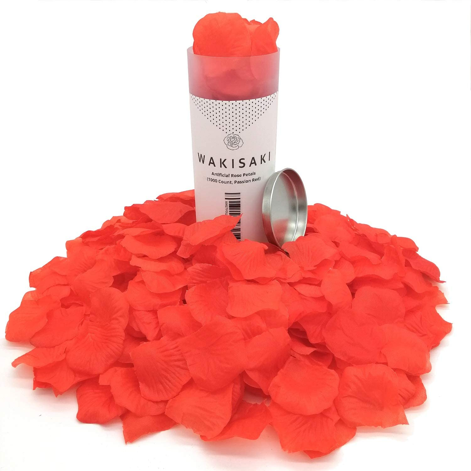 Wedding Party Event in Bulk WAKISAKI Artificial Fake Rose Petals for Romantic Night Decoration 1000 Count, Dark Red Separated, Deodorized