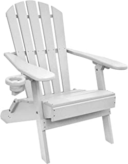 Outer Banks Value Line Poly Lumber Adirondack Chair (White)