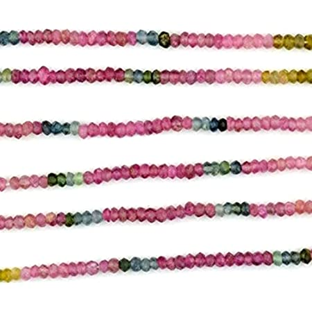 Tourmaline Beads Rondelles Smooth Watermelon Tourmaline Rondelles Roundels Rondels Earth Mined Gemstone    3 to 5mm   One 4.5 Inch Strand