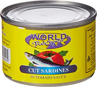 World Recipe Cut Canned Sardines 180 gm (Pack of 1)