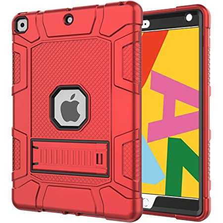 Slim Heavy Duty Shockproof Rugged High Impact Protective Case for iPad 7th Generation 10.2 inch 2019 Release Azzsy iPad 7th Generation Case,iPad 10.2 2019 Case Rose Gold