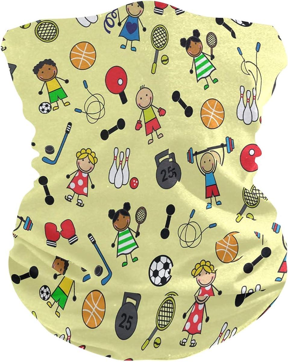 SUABO Face Scarf Cartoon Sport Neck Gaiter Headwraps Headband Bandana for Women Men