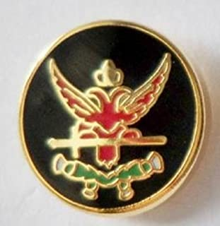 Rose Croix Tiny Round Freemasonry Masonic Enamel and Metal Pin Badge