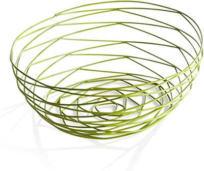 Torre & Tagus 910677A Weave Bowl Short - Powder Coated Green