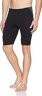 Speedo Men's Boom Splice Jammer Swimsuit (Black/Oxide Grey,Size 36)