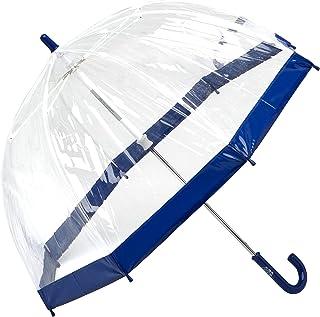 Clifton Umbrellas K1-CPVC800-NVY Kids' Trim Birdcage Umbrella, PVC, Kid Friendly, Navy Blue