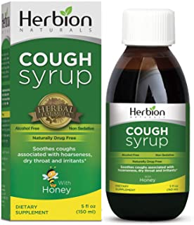 Herbion Naturals Cough Syrup with /El Jarabe Para La Tos Con Miel/, Naturally Tasty, Soothes Throat, Promot...