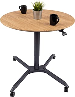 Pneumatic Adjustable-Height Cafe Table   Breakroom Table -(35