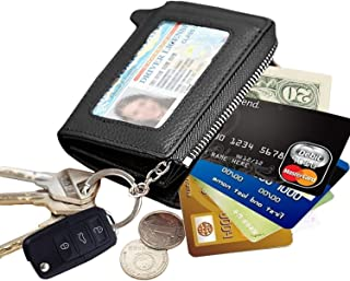 Zipper Travel Outdoor Leather Money ID Card Slot Key Case Wallet Holder Pocket Organizer