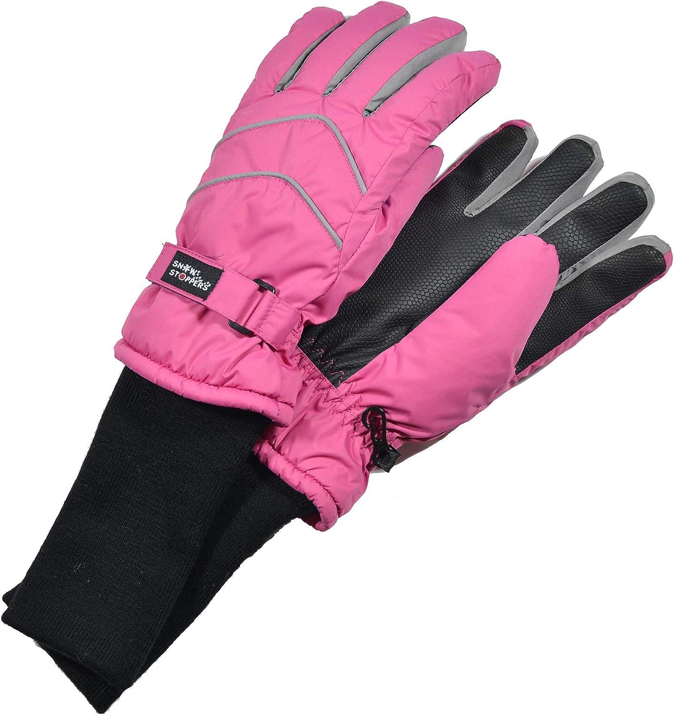 SnowStoppers Kids Waterproof Long Cuff Winter Gloves