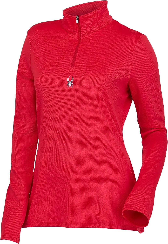 Spyder Women's Tempting Long Sleeve Half Zip T-Neck Top