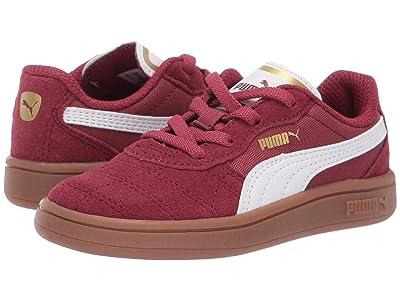 Puma Kids Astro Kick Slip-On (Toddler) (Cordovan/Puma White/Puma Team Gold) Kids Shoes