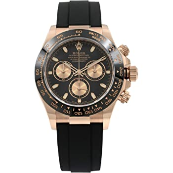 Rolex Daytona Oysterflex Everose Gold Black Dial Automatic Mens Watch 116515LN