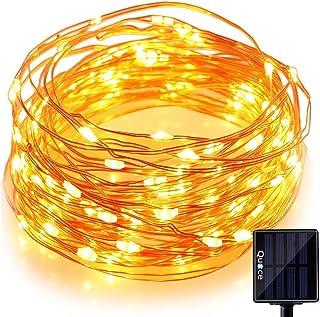 Quace Solar Light LED Festival Copper String Light (Black, Plastic)