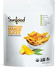 Sunfood Superfoods Dried Mango Slices. No Sugar Added. Organic. Unsweetened. No Additives, Preservatives or Sweeteners. 10...